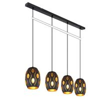 Pendul Globo Lighting Narri, 4xE27, negru mat