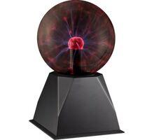 Lampa decorativa LED Globo Lighting Plasma, 3.6W, negru-rosu, dimabil, touch