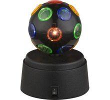 Lampa decorativa LED Globo Lighting Disco, 0.06W, negru-transparent