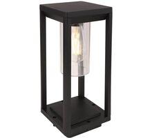 Lampadar pentru gradina Globo Lighting Candela, 1xE27, negru-transparent