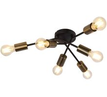 Lustra Globo Lighting Sarini, 6xE27, alama antica-negru