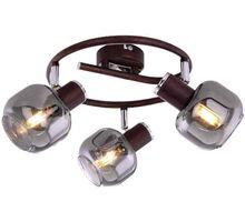 Plafoniera Globo Lighting Pallo, 3xE14, bronz-fumuriu