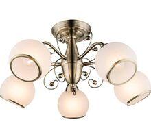 Lustra Globo Lighting Comodoro I, 5xE14, bej-bronz