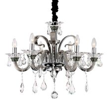 Candelabru cristal Globo Lighting Dunja, 6xE14, crom