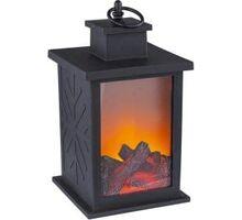 Lampa decorativa LED Globo Lighting Vemmi, 1.4W, negru-portocaliu-transparent, temporizator