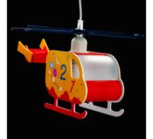 Pendul Kelektron Helicopter 1, 1xE27, portocaliu-rosu