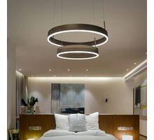 Pendul LED Kelektron Hoop, 60W, maro