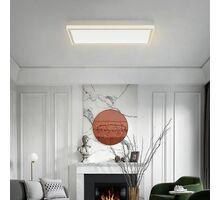 Plafoniera LED Kelektron Base, 72W, alb-argintiu, dimabil, telecomanda