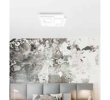 Plafoniera LED Kelektron Retro, 75W, alb, dimabil, telecomanda