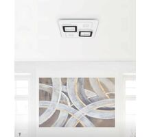 Plafoniera LED Kelektron Retro, 85W, alb-cafeniu, dimabil, telecomanda