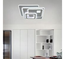 Plafoniera LED Kelektron Retro, 90W, alb, dimabil, telecomanda