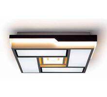 Plafoniera LED Kelektron Council, 100W, alb-cafeniu, dimabil, telecomanda
