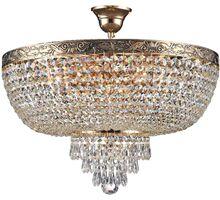 Plafoniera cristal Maytoni Palace, 6xE27, auriu-transparent