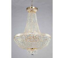Candelabru cristal Maytoni Bella, 8xE14, alb-auriu patinat