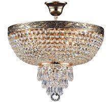 Plafoniera cristal Maytoni Palace, 5xE27, auriu-transparent