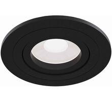 Spot mobil incastrat Maytoni Atom, 1xGU10, negru, rotund, IP20