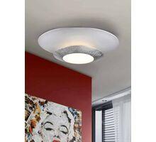 Plafoniera LED Schuller Hole, 22.5W, alb-argintiu