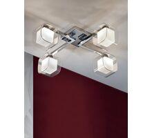 Lustra Schuller Cube, 4xG9, alb-crom-transparent
