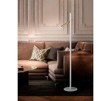 Lampadar LED Schuller Varas, 10W, alb-auriu, dimabil, telecomanda