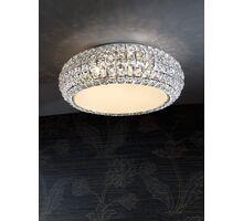Plafoniera cristal Schuller Diamond, 6xG9, crem-crom-transparent