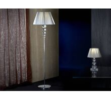 Lampadar Schuller Mercury, 1xE27, argintiu-crom-transparent