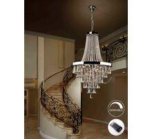 Candelabru cristal Schuller Palace, 22xG9, crom-transparent, dimabil, telecomanda