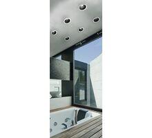 Spot mobil incastrat AZzardo Ibiza, 1xGU10, alb-negru, rotund, IP20