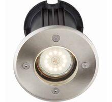Spot pentru trepte/pardoseli incastrat Globo Lighting Style II, 1xGU10, gri, rotund, IP67