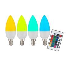 Bec LED Globo Lighting E14, lumanare, 4W, dimabil, RGB