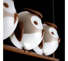 Pendul Kelektron Owl 3L, 3xG9, alb-maro