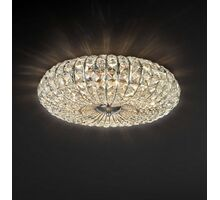 Plafoniera cristal Maytoni Broche, 6xE14, nichel