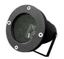 Spot mobil aplicat Lumen, 1xGU10, negru, rotund, IP65