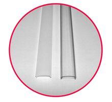 Profil Lumen 1ml ingust oval aparent din aluminiu pentru banda LED
