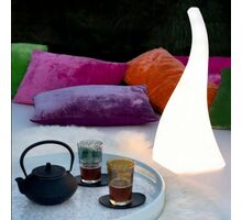 Lampadar pentru gradina Mantra Flame, 1xE27, alb