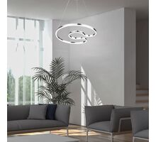 Pendul LED Rabalux Melora, 30W, crom