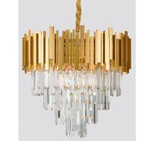 Candelabru cristal Nova Luce Grane, 8xE14, auriu