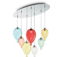 Pendul Ideal Lux Clown, 7xG9, crom-multicolor
