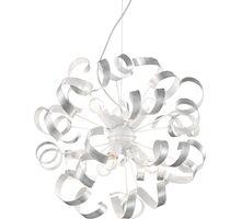 Pendul Ideal Lux Vortex, 6xE14, alb-auriu