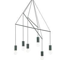 Pendul Ideal Lux Pop, 6xE27, negru