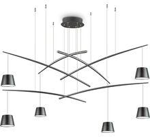 Pendul LED Ideal Lux Fish, 37W, negru