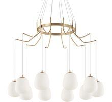 Pendul Ideal Lux Karousel, 10xG9, alama-alb