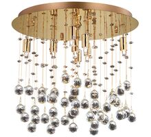 Plafoniera cristal Ideal Lux Moonlight, 8xG9, auriu-transparent