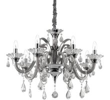 Candelabru cristal Ideal Lux Colossal, 8xE14, gri