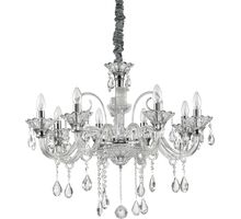 Candelabru cristal Ideal Lux Colossal, 8xE14, crom