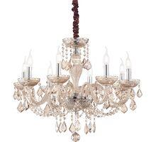 Candelabru cristal Ideal Lux Rose, 8xE14, ambra