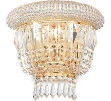 Aplica cristal Ideal Lux Dubai, 2xE14, alama-transparent