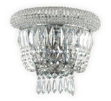 Aplica cristal Ideal Lux Dubai, 2xE14, crom-transparent